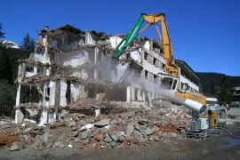 Dust Suppression at Demolition sites
